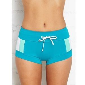 Women's F21 Aqua Hot Yoga Pants Large